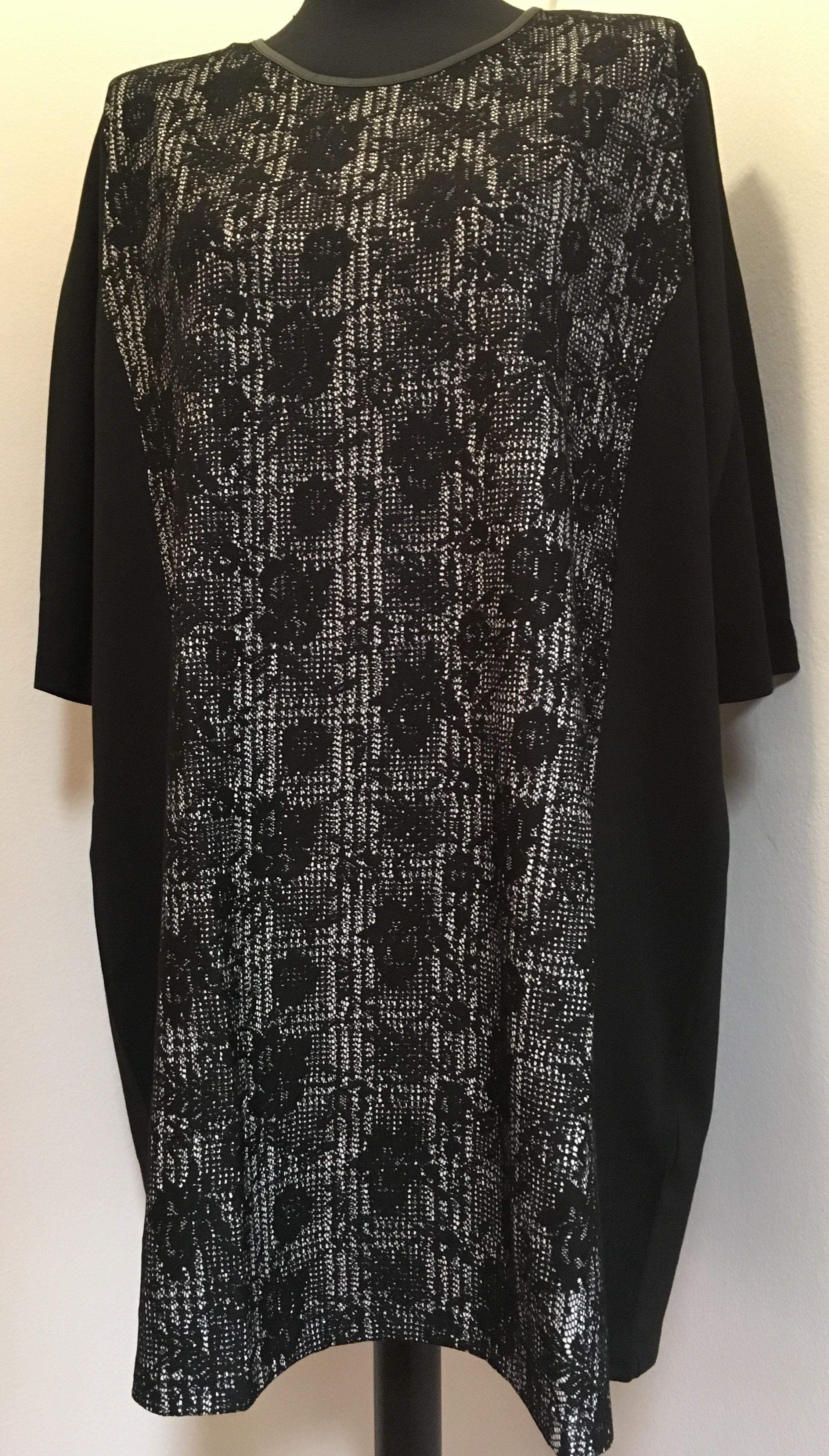 Via appia černobílé šaty se zeštíhlujícím efektem empty bab4be0a76