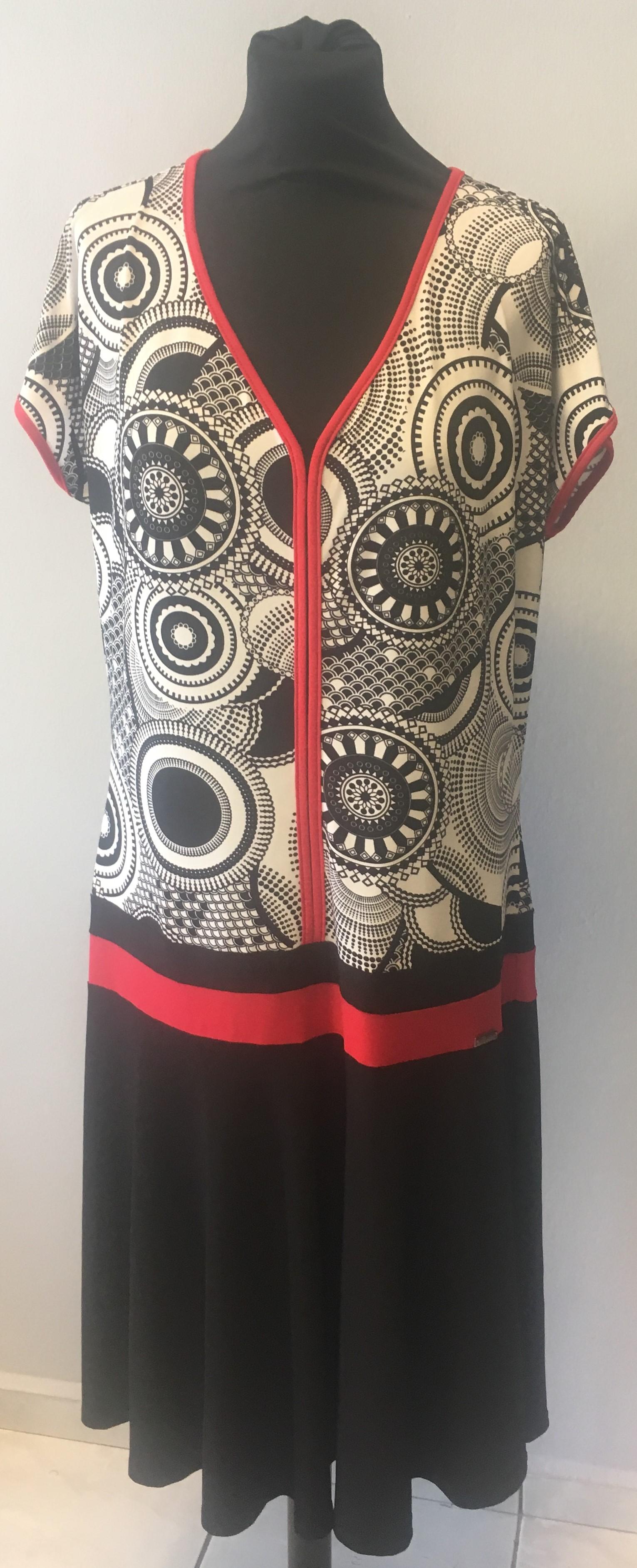 Letní červeno-bílo-černé šaty empty 72dd64ab44